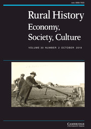 Rural History Volume 30 - Issue 2 -