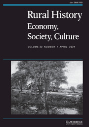 Rural History Volume 32 - Issue 1 -