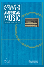 Journal of the Society for American Music Volume 2 - Issue 2 -  Special issue on Technology and Black Music in the Americas