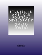 Image result for studies in american political development