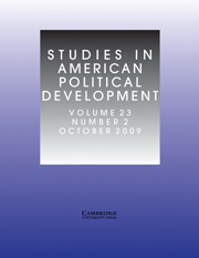 Studies in American Political Development Volume 23 - Issue 2 -