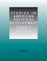 Studies in American Political Development Volume 24 - Issue 1 -