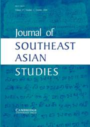 Journal of Southeast Asian Studies Volume 37 - Issue 3 -