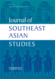 Journal of Southeast Asian Studies Volume 40 - Issue 1 -