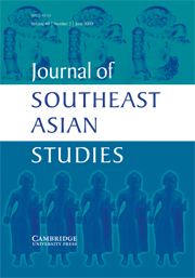 Journal of Southeast Asian Studies Volume 40 - Issue 2 -
