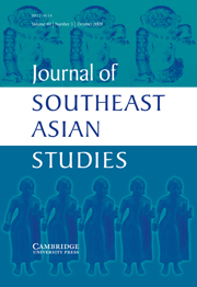 Journal of Southeast Asian Studies Volume 40 - Issue 3 -  The origins of the Southeast Asian Cold War