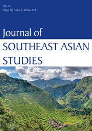 Journal of Southeast Asian Studies Volume 43 - Issue 3 -