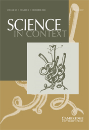 Science in Context Volume 21 - Issue 4 -