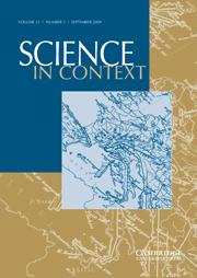 Science in Context Volume 22 - Issue 3 -