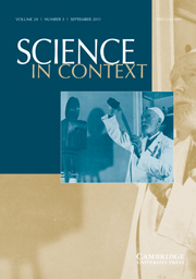 Science in Context Volume 24 - Issue 3 -  Cinematography, Seriality, and the Sciences