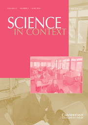 Science in Context Volume 27 - Issue 2 -  Science, Technology, Medicine – and the State: The Science-State Nexus in Scandinavia, 1850–1980