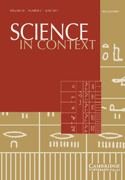 Science in Context Volume 30 - Issue 2 -