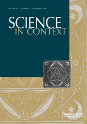 Science in Context Volume 33 - Issue 3 -