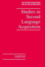 Studies in Second Language Acquisition