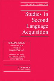 Studies in Second Language Acquisition Volume 30 - Issue 2 -