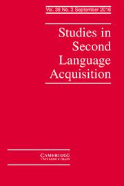 Studies in Second Language Acquisition Volume 38 - Issue 3 -
