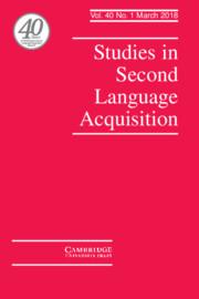 Studies in Second Language Acquisition Volume 40 - Issue 1 -
