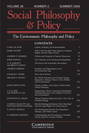 Social Philosophy and Policy Volume 26 - Issue 2 -