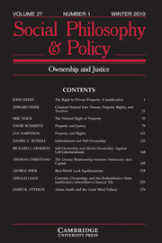 Social Philosophy and Policy Volume 27 - Issue 1 -