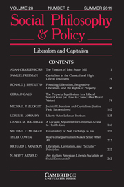 Social Philosophy and Policy Volume 28 - Issue 2 -