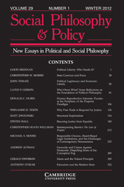 Social Philosophy and Policy Volume 29 - Issue 1 -