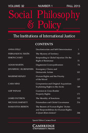 Social Philosophy and Policy Volume 32 - Issue 1 -