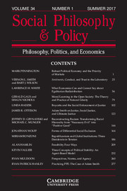 Social Philosophy and Policy Volume 34 - Issue 1 -