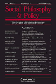 Social Philosophy and Policy Volume 37 - Issue 1 -
