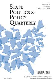 State Politics & Policy Quarterly Volume 21 - Issue 3 -