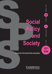 Social Policy and Society Volume 10 - Issue 1 -