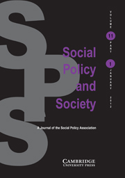 Social Policy and Society Volume 11 - Issue 1 -