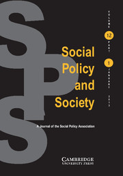 Social Policy and Society Volume 12 - Issue 1 -