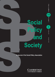 Social Policy and Society Volume 14 - Issue 3 -