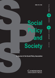 Social Policy and Society Volume 14 - Issue 4 -