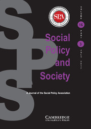 Social Policy and Society Volume 16 - Issue 3 -