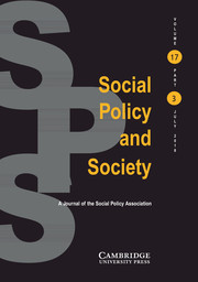 Social Policy and Society Volume 17 - Issue 3 -