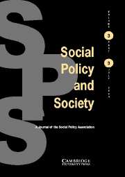 Social Policy and Society Volume 3 - Issue 3 -