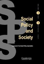 Social Policy and Society Volume 3 - Issue 4 -