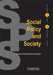 Social Policy and Society Volume 7 - Issue 4 -