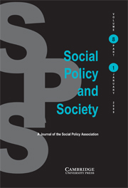 Social Policy and Society Volume 8 - Issue 1 -