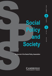 Social Policy and Society Volume 8 - Issue 3 -
