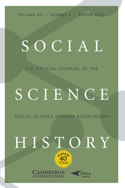 Social Science History Volume 40 - Issue 4 -