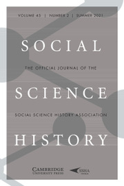 Social Science History Volume 45 - Special Issue2 -  From State-Building to European Integration: The Role of the Railway Network in the Territorial Integration of Europe, 1850–2020