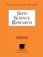 Seed Science Research Volume 18 - Issue 2 -