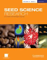 Seed Science Research Volume 19 - Issue 2 -
