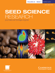 Seed Science Research Volume 20 - Issue 1 -