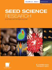 Seed Science Research Volume 23 - Issue 1 -