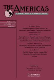 The Americas Volume 74 - Issue 4 -