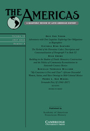 The Americas Volume 75 - Issue 3 -