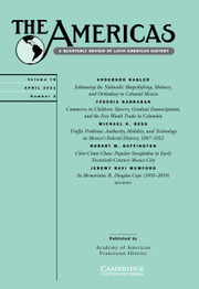 The Americas Volume 78 - Issue 2 -